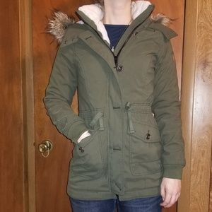 Hollister California green Jacket Size S